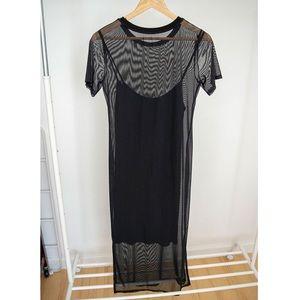 Trouvè - Mesh Midi Dress